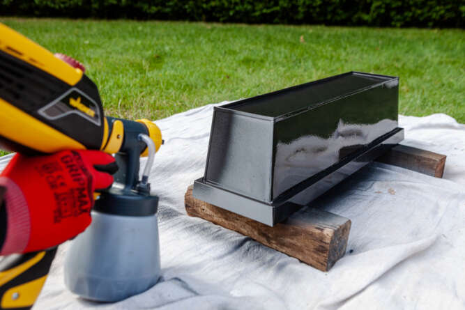 Restore and spray paint Window Boxes